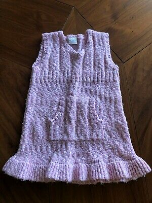 Next Girls Kids Knitted Dress Pink Size Age 3-4 Years Height 104 CMS