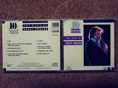 2 Kenny Rogers CDs, KR 10 greatest hits, KR The Gift (holiday) orig pckng