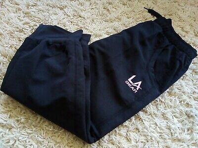 BNWT Girls LA Gear 3/4 leg pull on woven joggers 11-12 years