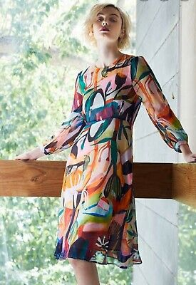 Gorman Size 10 megan grant Shadow Garden silk Dress
