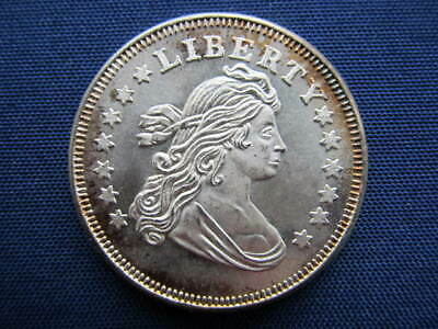 Liberty Head Vintage  1 One Troy Oz. Ounce .999 Fine Silver Round !