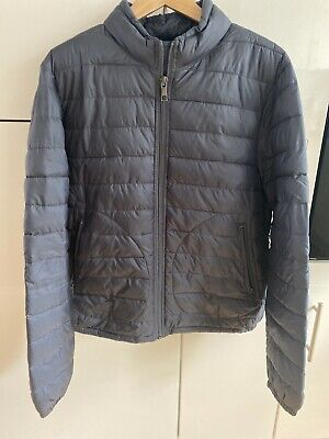 Zara Man Dark Blue Bomber Jacket - Size Large