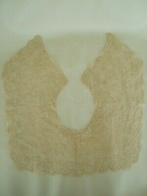 Antique very fine hand made lace ladies collar