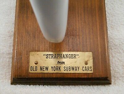Anitque Cast Iron & Porcelain Old New York City Subway Cars Strap Hanger Handle
