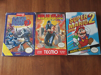 BEST complete in box nintendo nes games Super Mario 2, Mega Man 3, Ninja Gaiden