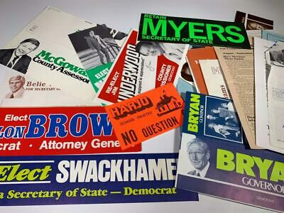 NEVADA POLITICS, Voting HUGE Collection 60+ Leaflets, Bumperstickers, Flyers