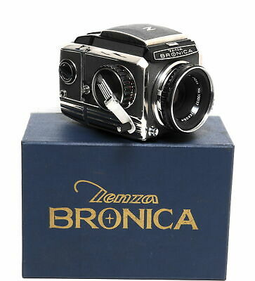 Zenza Bronica S w. Nikkor-P 2.8/7.5cm very early boxed full working