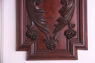 Vintage English Carved Walnut Wall Panel Griffin/Gargoyle