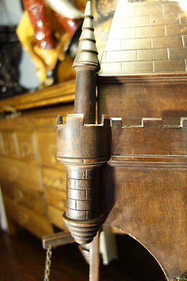 19C French Gothic Carved Oak Castle/Chateau Wall Element