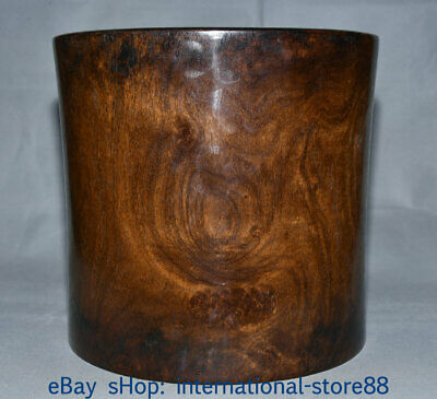 """10.6"""" Collect Old Chinese Huanghuali Wood Dynasty Palace Ghost Eyes Brush Pot"""