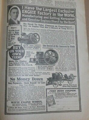 farm journal 1917 advertising hit miss engines galloway witte weber maytag