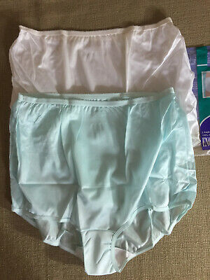 "(2) Vintage ENCOUNTERS Size 12 USA Made Nylon Full Rise Panties Briefs (40""~42"")"