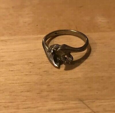 10K YELLOW GOLD engagement Scrap  RING SIZE 6