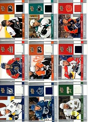 2009-10Upper Deck Game JerseysPICK YOUR SINGLES LOT WOW FLAT SHIPPING RATE $3