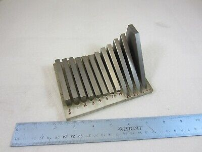 Machinist Milling Tool Maker 12 Piece Angle Block Set 1/2 to 45 Degrees