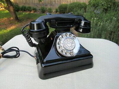 Vintage Telephone Bakelite Pyramid Table Phone  C1935   *Superb*