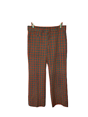 Vintage 70's Levi's Panatela Plaid Golf / Disco Pants, 33 X 32 bell bottom