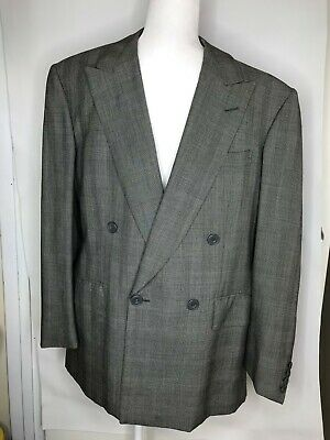 AS IS BESPOKE EDWARD SEXTON SAVILE ROW GRAY Double Breasted Houndstooth check 41