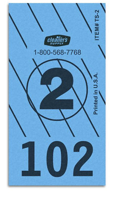 Cleartype #2 Stripe Dry Cleaning Piece Tags - 3,000/Box - Blue