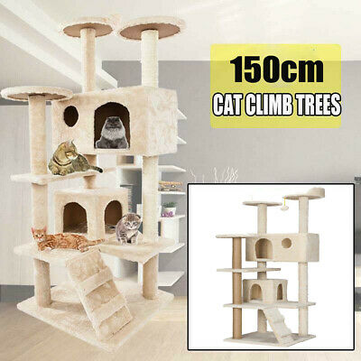 Cat Tree Scratching Post Scratcher Pole Gym Toy House Furniture Multi Level 1.5M