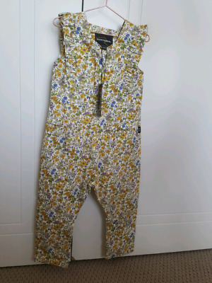 Rock your baby girls size 3 spring florals jumpsuit