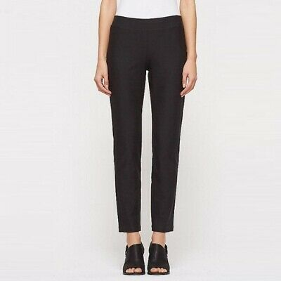 Eileen Fisher Pants S Washable Stretch Crepe Knit Ankle Cropped Pull On Womens