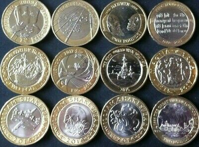 Two £2 Pound Coin UK Coins Olympics Navy Bible Mary Rose Underground Shakespeare