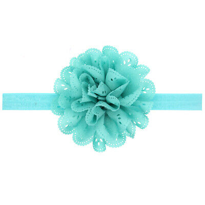 Baby Girls Headband Toddler Lace Bow Flower Hair Band Accessories Light green