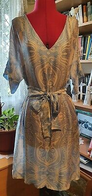 Designer Collette Dinnigan silk dress size S Aus or 8-12 Aus, as new condition