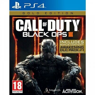 Call of Duty Black Ops 3 III - Gold Edition (PS4) Brand New Sealed