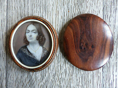 FINE ANTIQUE EARLY 19th CENTURY ELEGANT LADY MINIATURE PORTRAIT 1830's (#4)