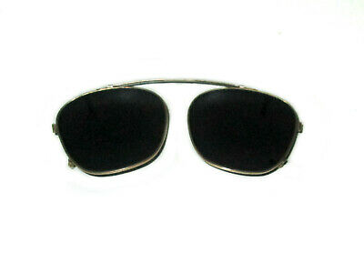 Antique American Optical 50mm Clip On Sunglasses Spectacles Vtg Steampunk AO