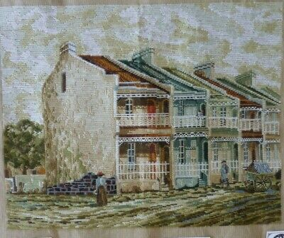 Rare Vintage Large Tramme Tapestry Canvas Paddington Terrace Houses No Wool
