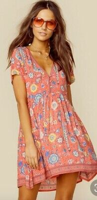 Spell & The Gypsy Lovebird Dress - Rose - Small 8-10 Folktown Vintage Kombi