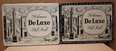 2 Different  ROTHMANS De Luxe PALL MALL Cigarette Tobacco Tins