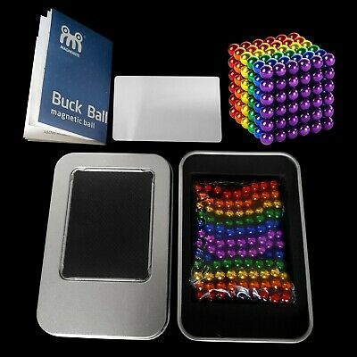 216pcs 3mm Powerful Magnetic Multi-COLOURED BALLS With CHOPPING CARD & MANUAL UK