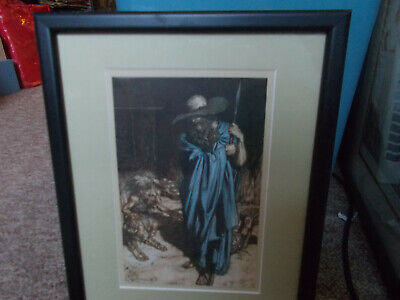Antique Mime And The Wanderer Framed Bookplate Arthur Rackham Print