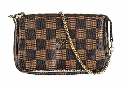 LOUIS VUITTON Brown Damier Ebene Canvas Mini Pochette Accessoires Bag
