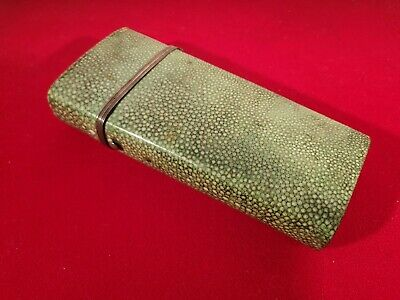 LARGE GEORGIAN SHAGREEN COVERED DRAUGHTSMANS DRAWING CASE & CONTENTS c.1785