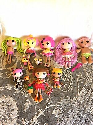 Lalaloopsy Doll Lot Full Size, Little Sister, Baby, Pets, and Clothes!!  Great!!