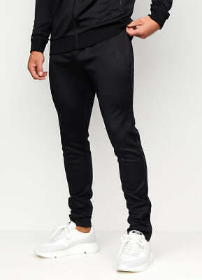 Gym King Mens New Basis Poly Joggers Tracksuit Bottoms Black