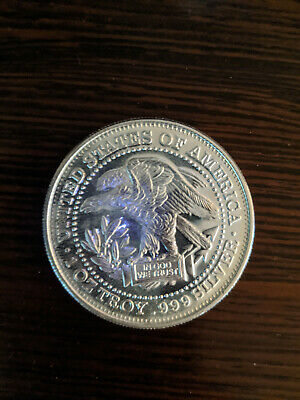 """One Troy Ounce .999 Fine Silver """"Silver Trade Unit"""" round"""
