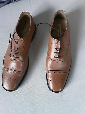Brown Oxford Brogue Shoes size UK 9.5 great condition 1930s Vintage Style