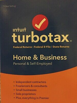 2018 Intuit TurboTax HOME & BUSINESS Tax Software CD for Windows & Mac