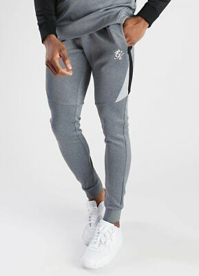 Gym King Mens New Climb Poly Joggers Tracksuit Bottoms Grey Charcoal Black