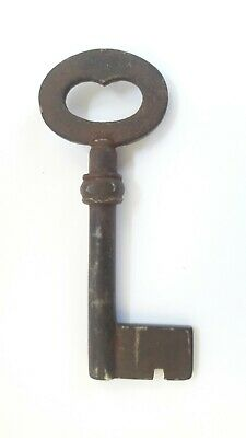 Heavy Large Door Iron Key Antique Rustic VTG Home Decor Steampunk Skeleton K5