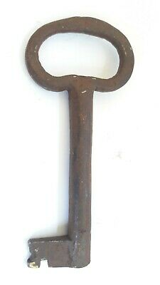 Heavy Large Door Iron Key Antique Rustic VTG Home Decor Steampunk Skeleton K6