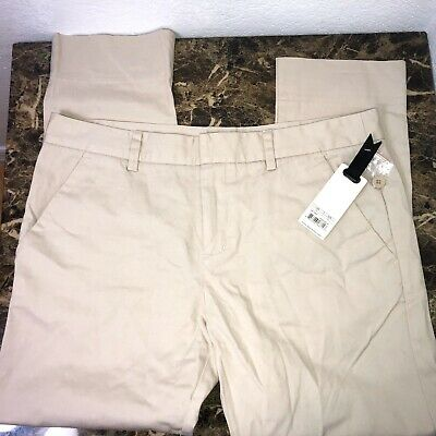 New! Sz 10 BB Dakota Womens Beige Bone Cropped Pants