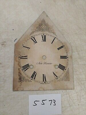 Antique New Haven Gothic Steeple Mantle Clock Metal Dial