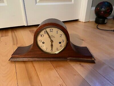 Vintage Antique Shelf Mantel Mantle Clock Seth Thomas Westminster Chime Germany